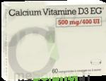 CALCIUM VITAMINE D3 EG 500 mg/400 UI, comprimé à croquer ou à sucer à Libourne