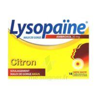 LysopaÏne Ambroxol 20 Mg Pastilles Maux De Gorge Sans Sucre Citron Plq/18 à Libourne