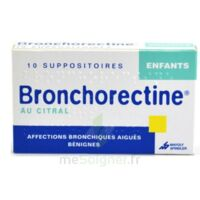 BRONCHORECTINE AU CITRAL ENFANTS, suppositoire à Libourne