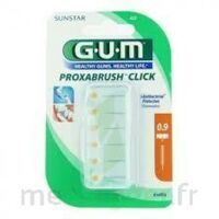 Gum Proxabrush Click, 0,9 Mm, Ocre Jaune , Blister 6 à Libourne