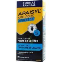 Apaisyl Anti-poux Xpress 15' Lotion Antipoux Et Lente 100ml+peigne à Libourne